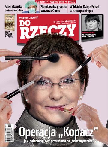 """Okładka tygodnika """"Do Rzeczy"""", wydanie nr 42/2014 (90)"""
