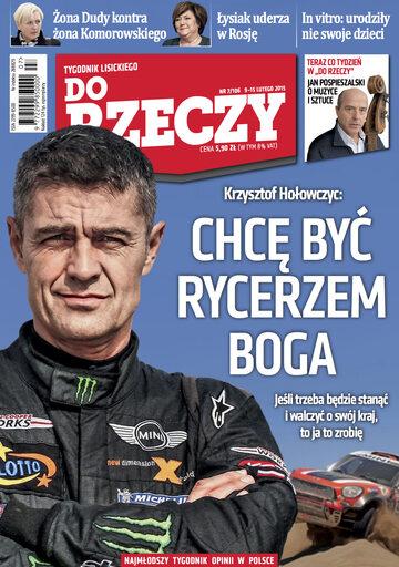 """Okładka tygodnika """"Do Rzeczy"""", wydanie nr 7/2015 (106)"""