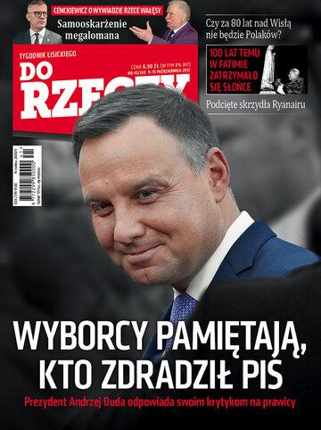 """Okładka tygodnika """"Do Rzeczy"""", wydanie nr 41/2017 (243)"""