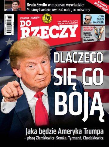 """Okładka tygodnika """"Do Rzeczy"""", wydanie nr 46/2016 (197)"""