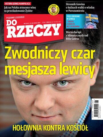 """Okładka tygodnika """"Do Rzeczy"""", wydanie nr 8/2021 (413)"""