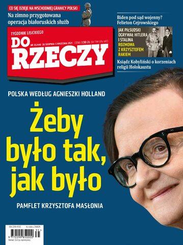 """Okładka tygodnika """"Do Rzeczy"""", wydanie nr 35/2021 (440)"""