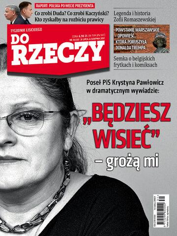 """Okładka tygodnika """"Do Rzeczy"""", wydanie nr 31/2017 (233)"""