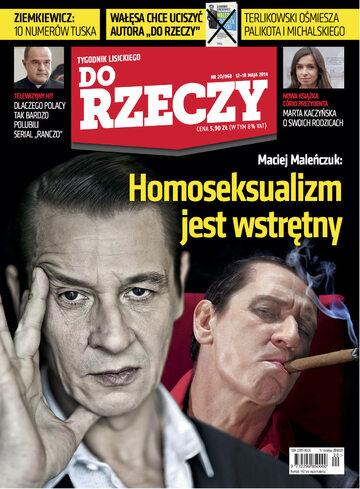 """Okładka tygodnika """"Do Rzeczy"""", wydanie nr 20/2014 (68)"""