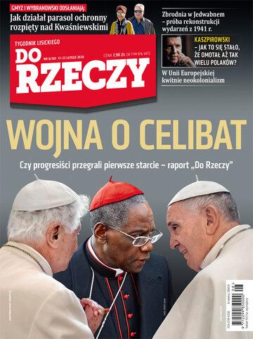 """Okładka tygodnika """"Do Rzeczy"""", wydanie nr 8/2020 (361)"""