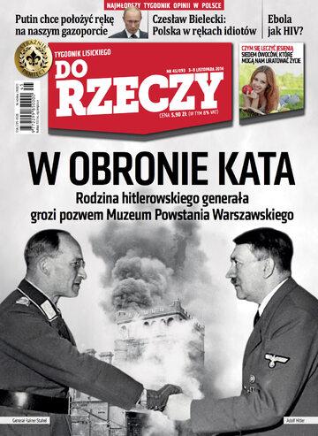 """Okładka tygodnika """"Do Rzeczy"""", wydanie nr 45/2014 (93)"""