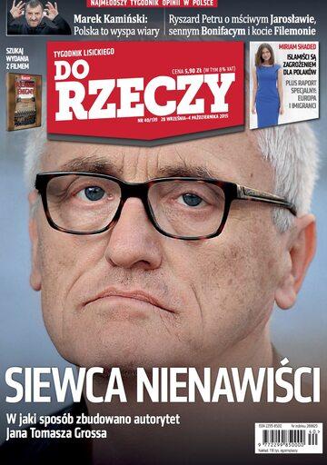"""Okładka tygodnika """"Do Rzeczy"""", wydanie nr 40/2015 (139)"""