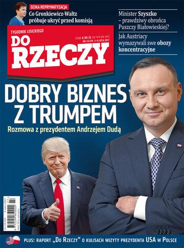 """Okładka tygodnika """"Do Rzeczy"""", wydanie nr 27/2017 (229)"""