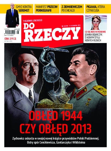 """Okładka tygodnika """"Do Rzeczy"""", wydanie nr 28/2013 (28)"""