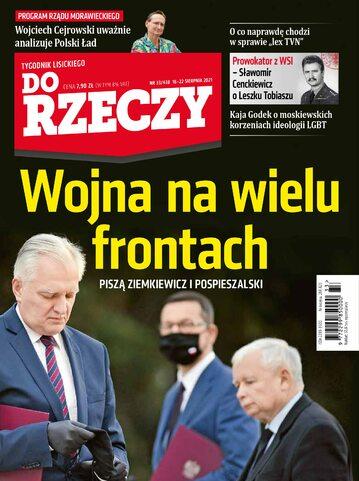 """Okładka tygodnika """"Do Rzeczy"""", wydanie nr 33/2021 (438)"""