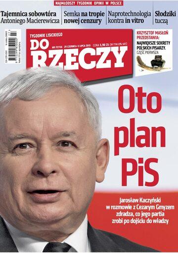 """Okładka tygodnika """"Do Rzeczy"""", wydanie nr 27/2015 (126)"""