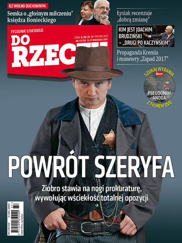 """Okładka tygodnika """"Do Rzeczy"""", wydanie nr 37/2017 (239)"""