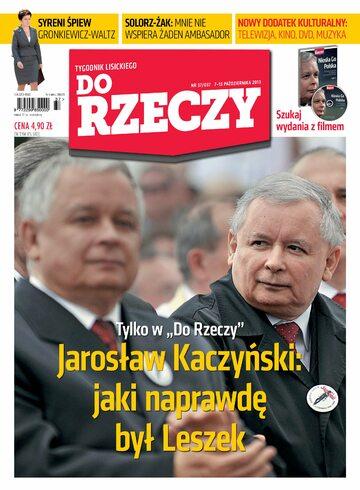 """Okładka tygodnika """"Do Rzeczy"""", wydanie nr 37/2013 (37)"""