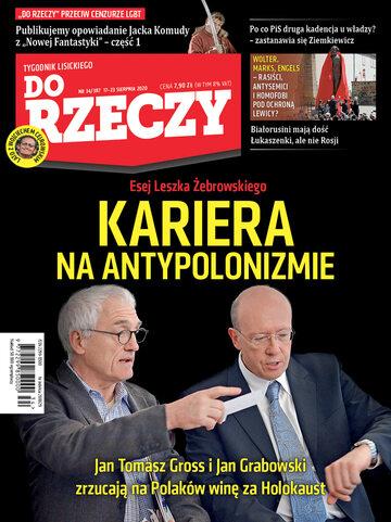 """Okładka tygodnika """"Do Rzeczy"""", wydanie nr 34/2020 (387)"""