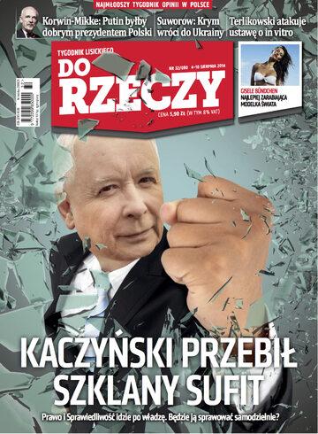 """Okładka tygodnika """"Do Rzeczy"""", wydanie nr 32/2014 (80)"""