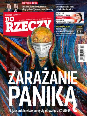 """Okładka tygodnika """"Do Rzeczy"""", wydanie nr 39/2020 (392)"""
