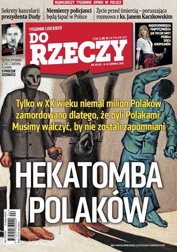 """Okładka tygodnika """"Do Rzeczy"""", wydanie nr 24/2015 (123)"""