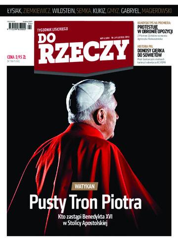 """Okładka tygodnika """"Do Rzeczy"""", wydanie nr 4/2013 (4)"""