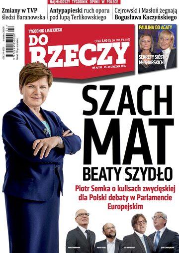"""Okładka tygodnika """"Do Rzeczy"""", wydanie nr 4/2016 (155)"""