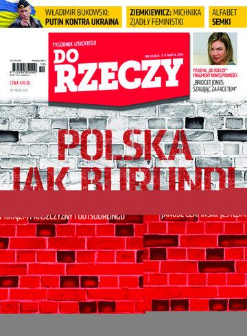 """Okładka tygodnika """"Do Rzeczy"""", wydanie nr 10/2014 (58)"""