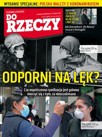 """Okładka tygodnika """"Do Rzeczy"""", wydanie nr 13/2020 (366)"""