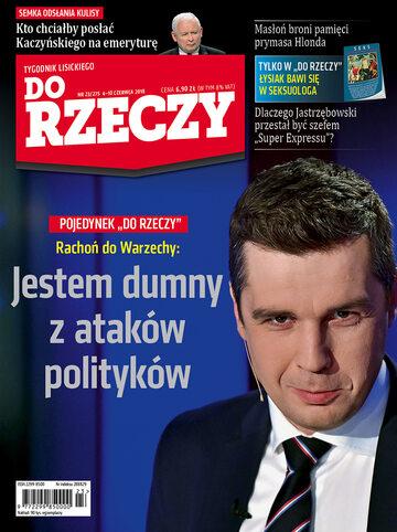 """Okładka tygodnika """"Do Rzeczy"""", wydanie nr 23/2018 (275)"""