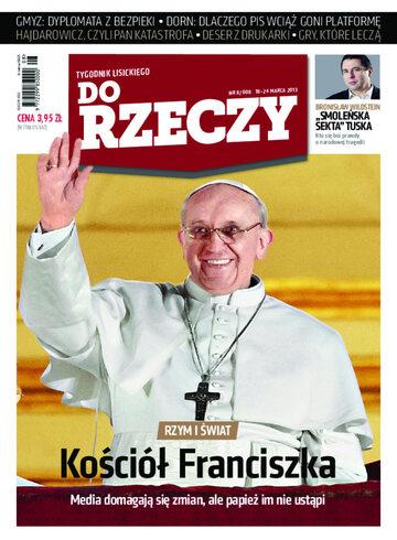 """Okładka tygodnika """"Do Rzeczy"""", wydanie nr 8/2013 (8)"""