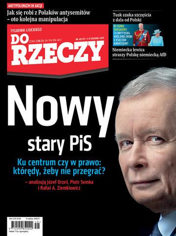 """Okładka tygodnika """"Do Rzeczy"""", wydanie nr 49/2019 (351)"""