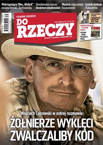 """Okładka tygodnika """"Do Rzeczy"""", wydanie nr 39/2016 (190)"""