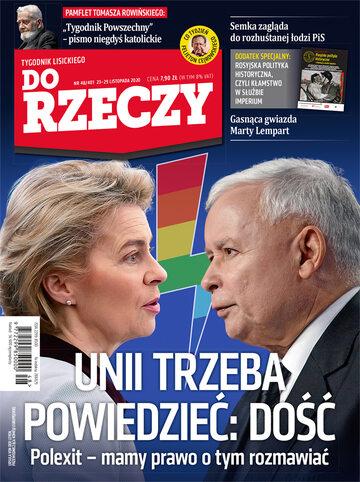 """Okładka tygodnika """"Do Rzeczy"""", wydanie nr 48/2020 (401)"""
