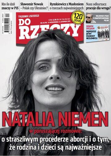 """Okładka tygodnika """"Do Rzeczy"""", wydanie nr 44/2016 (195)"""