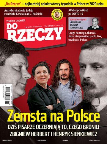 """Okładka tygodnika """"Do Rzeczy"""", wydanie nr 6/2021 (411)"""