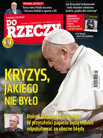 """Okładka tygodnika """"Do Rzeczy"""", wydanie nr 41/2020 (394)"""