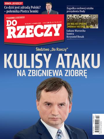 """Okładka tygodnika """"Do Rzeczy"""", wydanie nr 10/2020 (363)"""