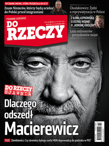 """Okładka tygodnika """"Do Rzeczy"""", wydanie nr 3/2018 (256)"""