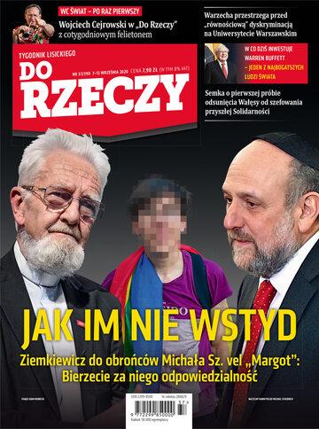 """Okładka tygodnika """"Do Rzeczy"""", wydanie nr 37/2020 (390)"""