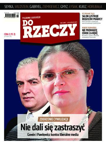 """Okładka tygodnika """"Do Rzeczy"""", wydanie nr 2/2013 (2)"""