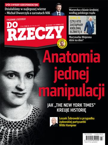 """Okładka tygodnika """"Do Rzeczy"""", wydanie nr 23/2021 (428)"""