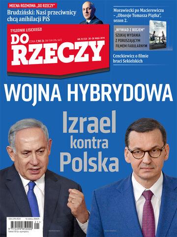 """Okładka tygodnika """"Do Rzeczy"""", wydanie nr 21/2019 (323)"""