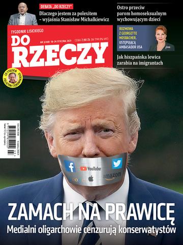 """Okładka tygodnika """"Do Rzeczy"""", wydanie nr 3/2021 (408)"""