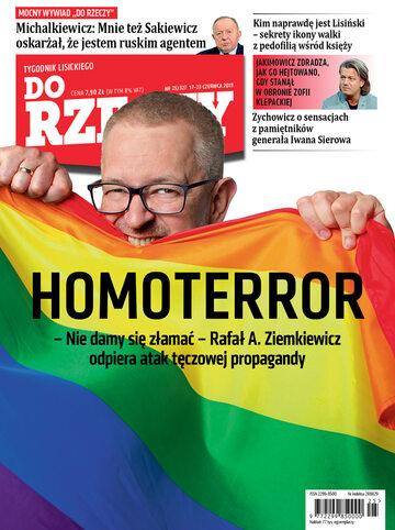 """Okładka tygodnika """"Do Rzeczy"""", wydanie nr 25/2019 (327)"""