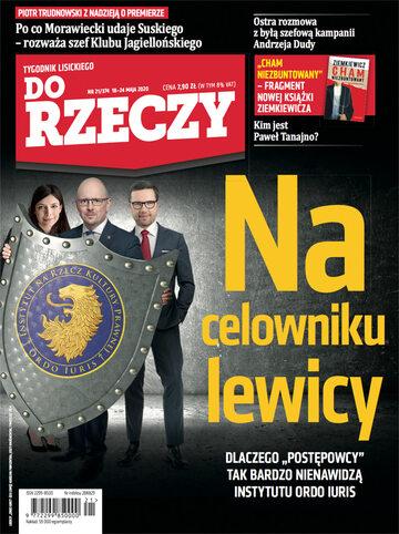 """Okładka tygodnika """"Do Rzeczy"""", wydanie nr 21/2020 (374)"""