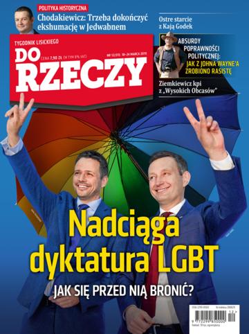"""Okładka tygodnika """"Do Rzeczy"""", wydanie nr 12/2019 (315)"""