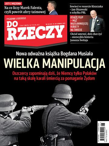"""Okładka tygodnika """"Do Rzeczy"""", wydanie nr 26/2019 (328)"""