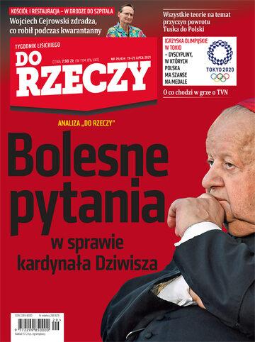 """Okładka tygodnika """"Do Rzeczy"""", wydanie nr 29/2021 (434)"""