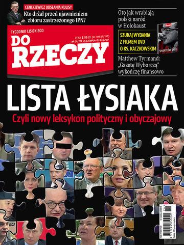 """Okładka tygodnika """"Do Rzeczy"""", wydanie nr 26/2017 (228)"""