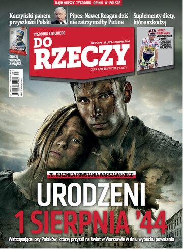 """Okładka tygodnika """"Do Rzeczy"""", wydanie nr 31/2014 (79)"""