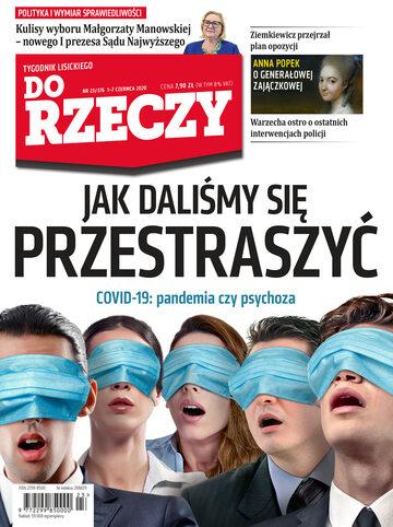 """Okładka tygodnika """"Do Rzeczy"""", wydanie nr 23/2020 (376)"""