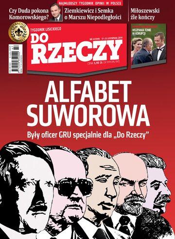 """Okładka tygodnika """"Do Rzeczy"""", wydanie nr 47/2014 (95)"""