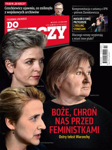 """Okładka tygodnika """"Do Rzeczy"""", wydanie nr 27/2018 (279)"""
